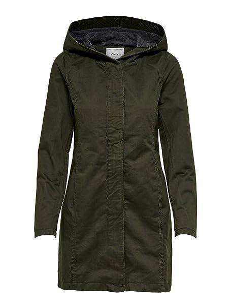 ea85a842c Only 15169971-Cappotto Donna Grün (Black Olive) XS (Taglia Produttore: XS