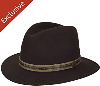 product image for Hats.com Quest Safari Fedora - Exclusive Brown, Medium