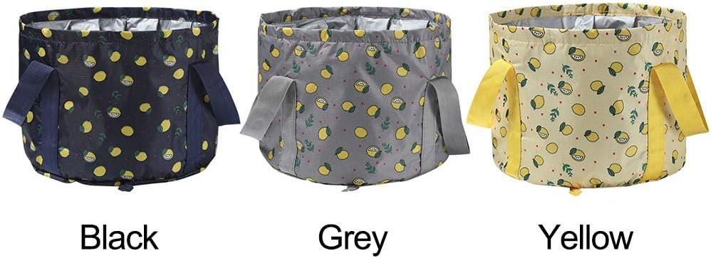 Pas de z/éro YYWJ Bain de pied pliable pour voyage Taille unique voyage avec sac de rangement seau pliable portable pour camping randonn/ée gris