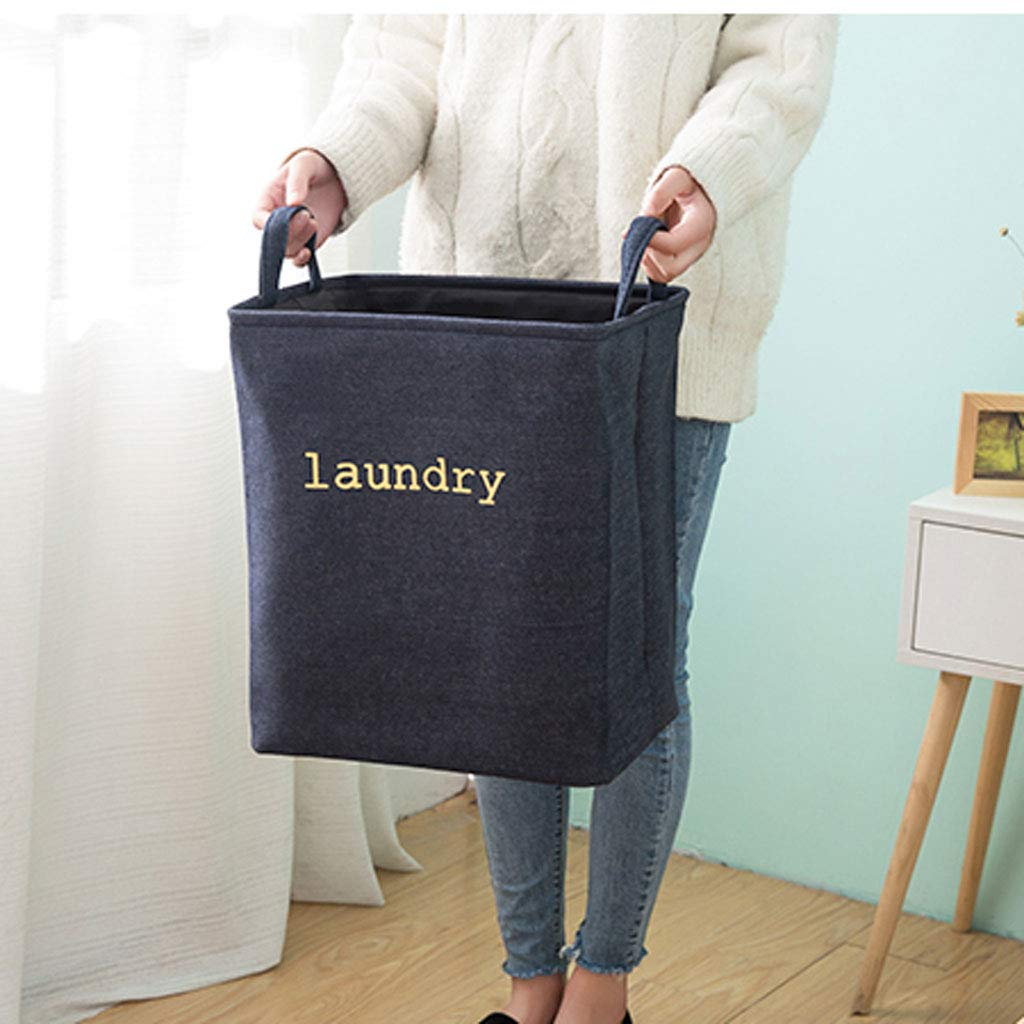 Laundry Basket | Basket Large | Collapsible (Color : Navy) by Laundry Basket (Image #5)
