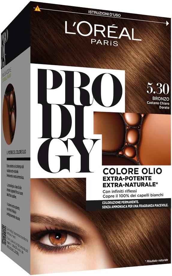 L Oréal Paris, Prodigy - Coloración permanente 5.3 Bronzo Castano Chiaro Dorato