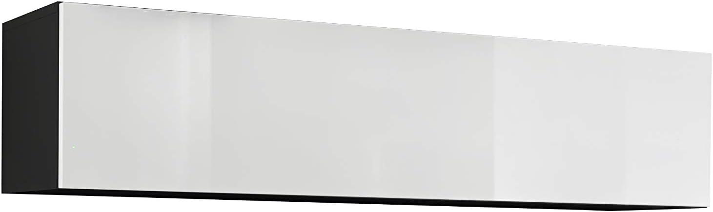 muebles bonitos Mobile pensile Modello Krista H-160 160x30cm Nero