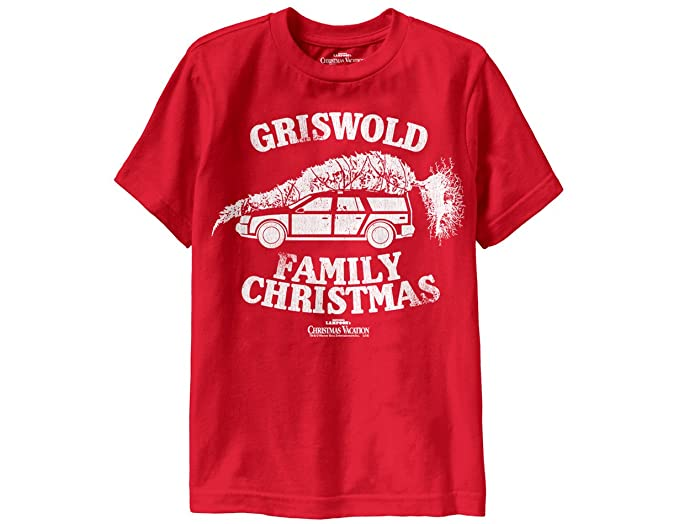 ripple junction national lampoons christmas vacation truckster boys t shirt xs red