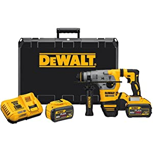 "DEWALT DCH293X2 20V MAX XR Brushless 1-1/8"" L-Shape SDS Plus Rotary Hammer Kit"
