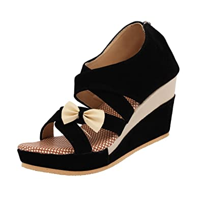 07c17df9b7f ABJ Fashion Women's Suede Sandals: Buy Online at Low Prices in India ...
