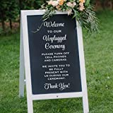 Unplugged Wedding Ceremony Decal, No Cell Phone Use Vinyl Sticker, No Devices Allowed, DECAL ONLY