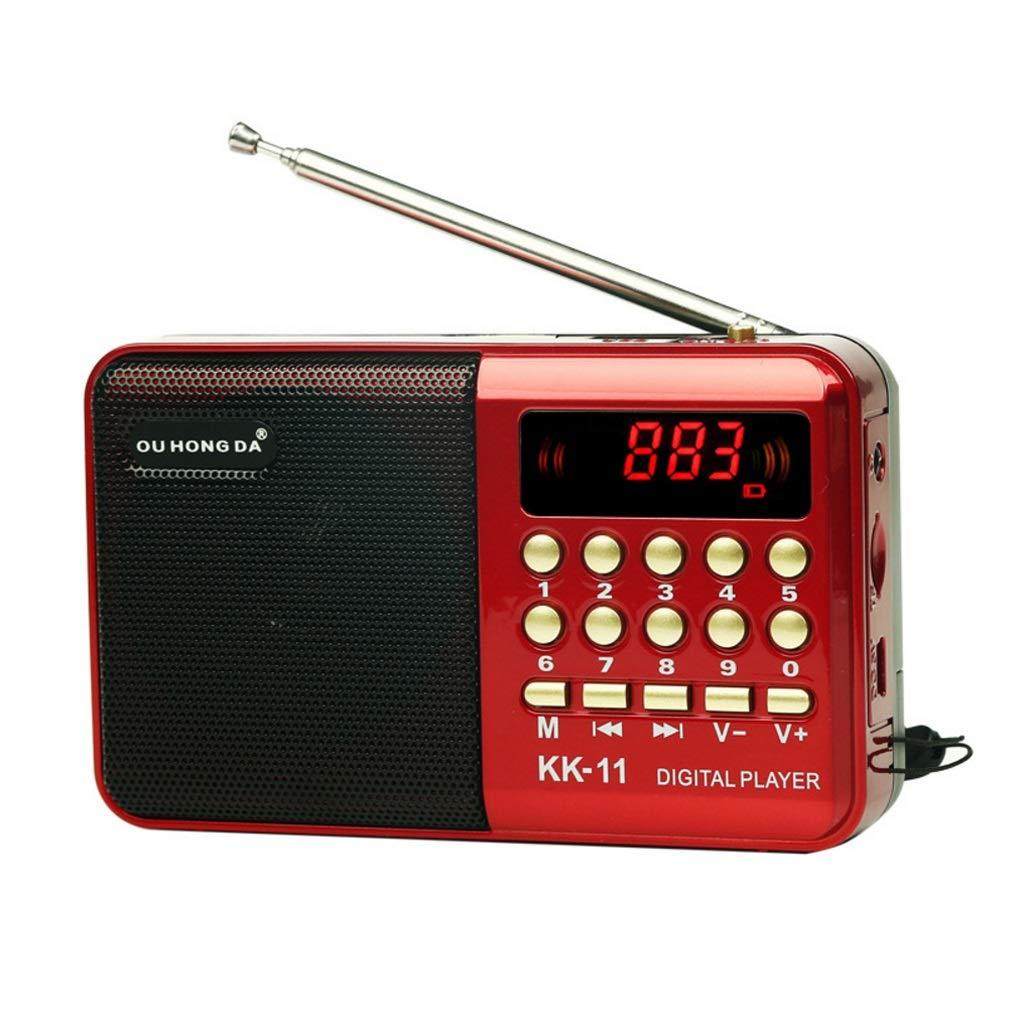 ZWS Radio Mini Portable Radio Handheld Digital FM USB TF MP3 Player Speaker Rechargeable Current Affairs Information (Size : 12cm) by ZWS