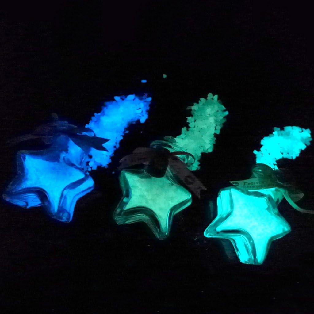 Decorazione per la casa JAGETRADE per Acquario Ghiaia Che Si Illumina al Buio Giardino Parco Cortile