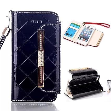 Amazon Com Iphone 5 Case Iphone 5 Se Case Longrise Grid Deluxe