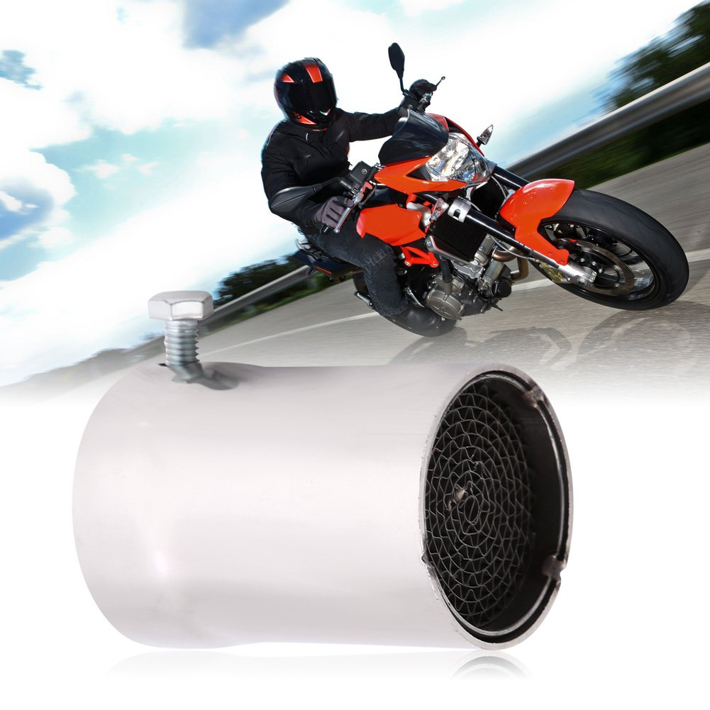 E Elerose 51mm universal motorcycle modified exhaust pipe muffler Stainless steel removable exhaust pipe DB noise canceller for most motorcycles