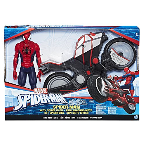 marvel spider man titan hero series spider man figure with import it all