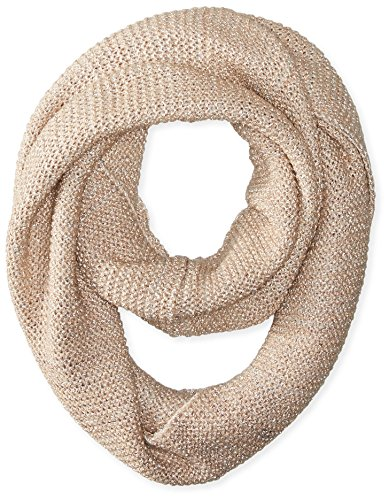 La Fiorentina Women's Textured Knit Snood Scarf, Beige, One - Fri Sale Black