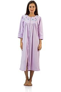 96c0743182 Casual Nights Women s Long Sleeve Zip Up Front Short Fleece Robe at ...