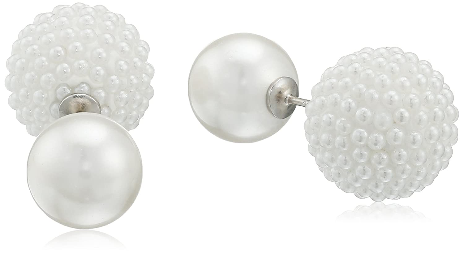 pearl tous en us silver pearls peral earrings with