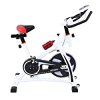 Ridgeyard Bicicleta estática Indoor cycling Bicicleta Spinning Cardio Workout, Direct Belt Driven, Manillar y