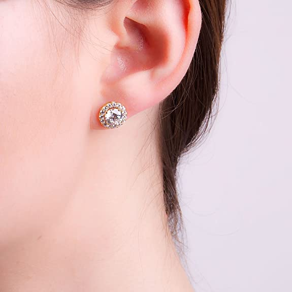 2ct Stardust Diamond Halo Stud Earrings fiImjTlY