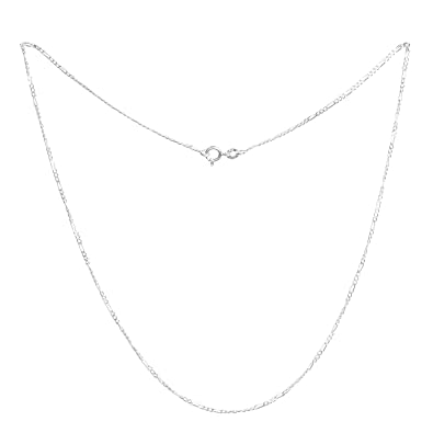 acc0d9aa163ceb iJuels 925 Sterling Silver 2MM Italian Silver Figaro Chain Girls /Women/Boys/Men