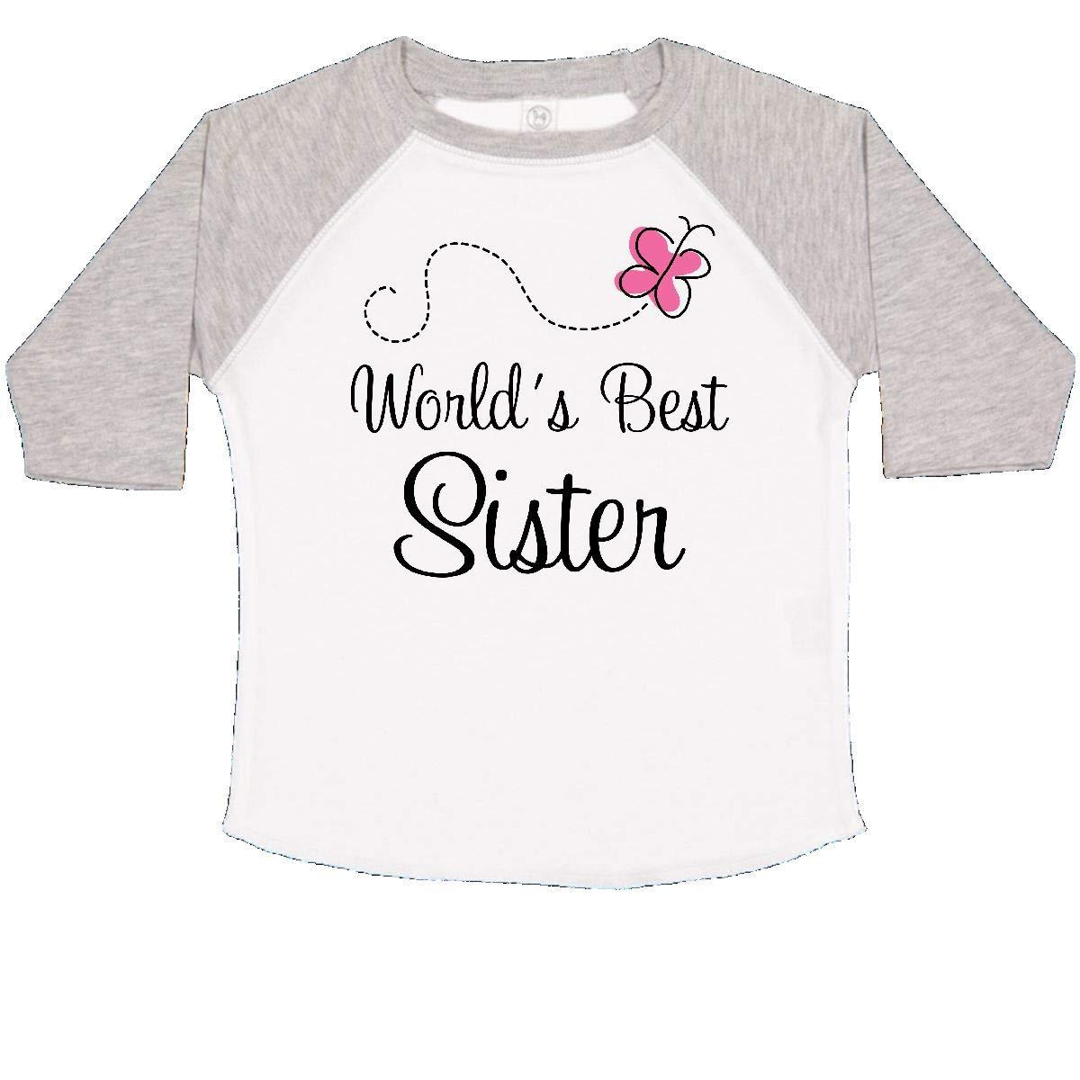 inktastic Worlds Best Sister Cute Toddler T-Shirt