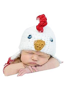 THEE Disfraz de Fotografía Gorro de Pollito Bebé Recién Nacido: Amazon.es: Juguetes y juegos