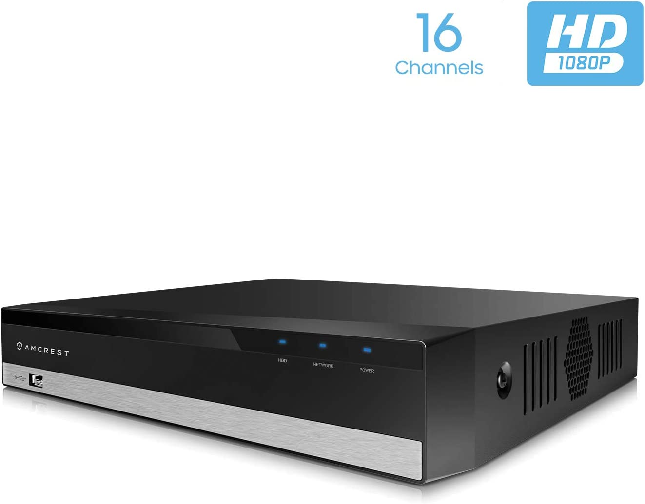 Amcrest ProHD 1080P 16CH Video Security DVR Digital Recorder, 16-Channel 1080P, Supports 960H HDCVI HDTVI AHD Amcrest IP, HDD Cameras NOT Included, Remote Smartphone Access AMDV108116-H5