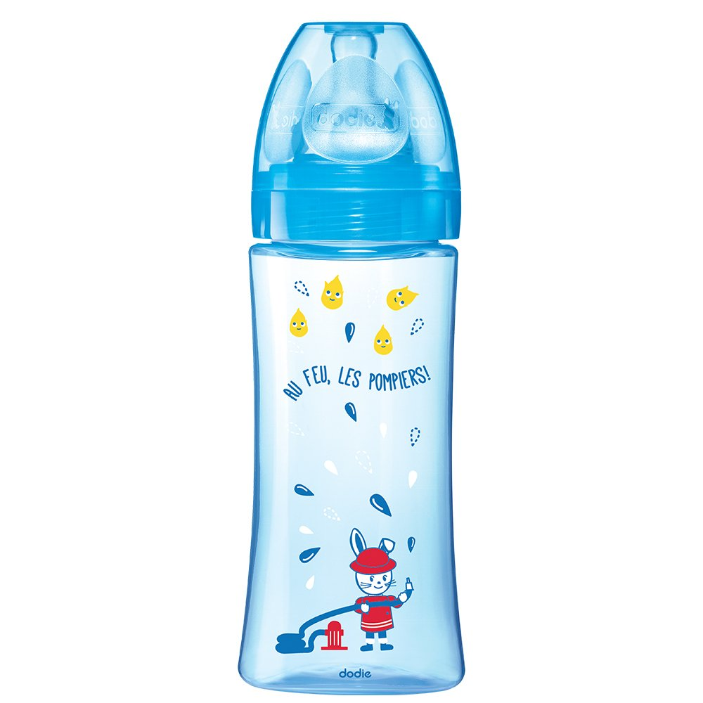 Dodie Botellas evolutiva Tipo flujo 3 330 ml color: azul