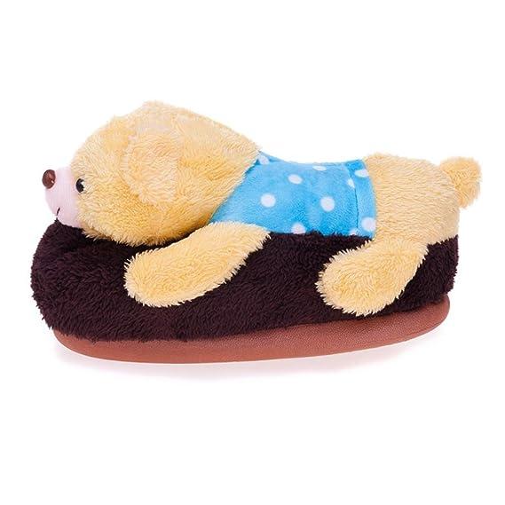 MHGAO donna casual pantofole Papa Bear Cartoon Fashion interni cotone sandali, 3, M