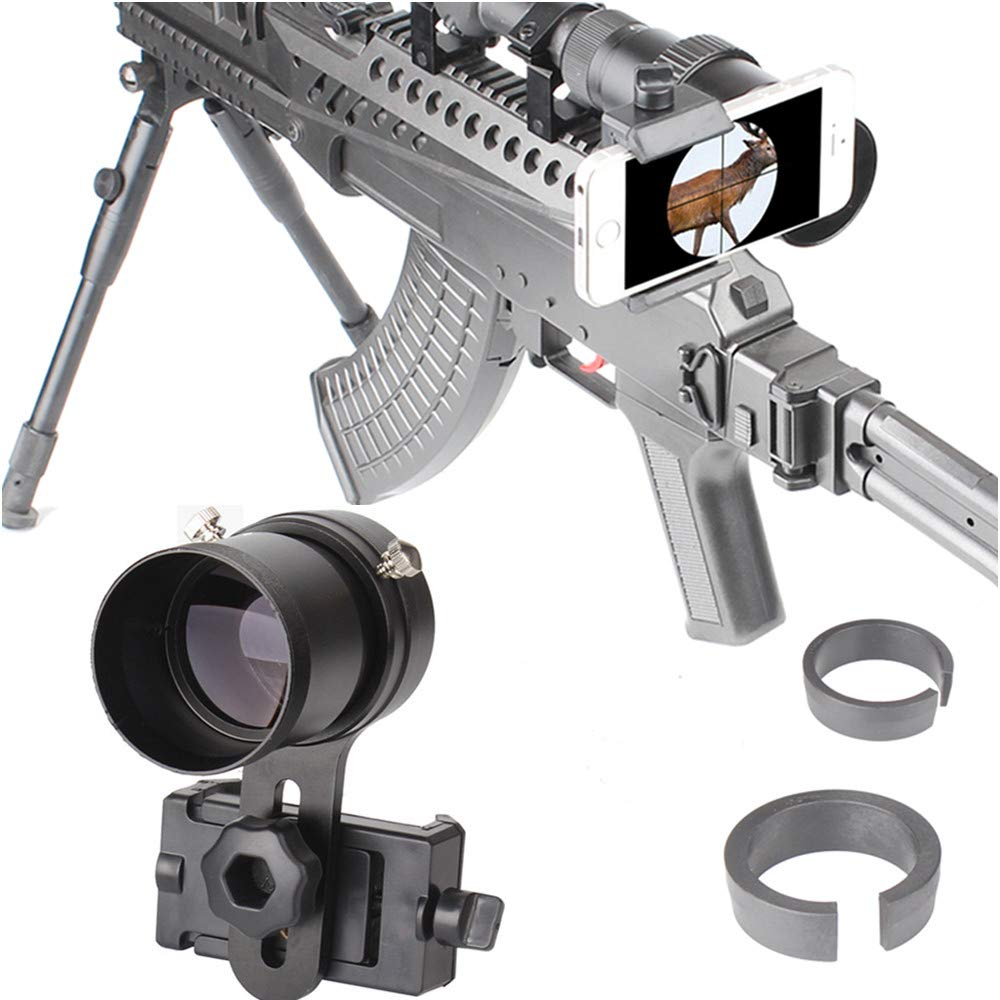 SOLOMARK Scope Phone Adapter Mount with Advanced Glass Magnification- Quick Smartphone Adapter for Rifle Scope Gun Scope Airgun Scope- Capture Hunting Image into Your Phone Screen by SOLOMARK
