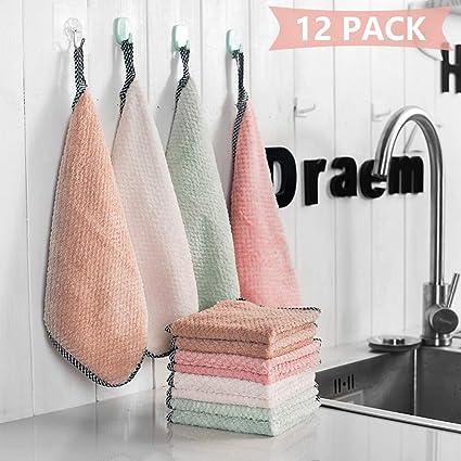 Kitchen Towels Cotton Dish Towels Denavo Eu Kitchen Towel Set Cotton Hand Towels Tea Towel Sets Soft Washcloth Towel Set 12 Pack For