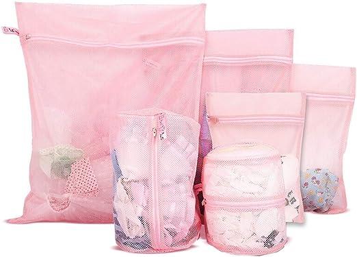 Bolsas de lavandería de malla para prendas delicadas en lavadora ...