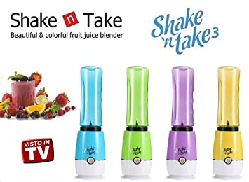 Shake n Take 3 Smoothie Maker Batidora Batidora Eléctrica coctelera Frutas Faldón y cóctel Vaso