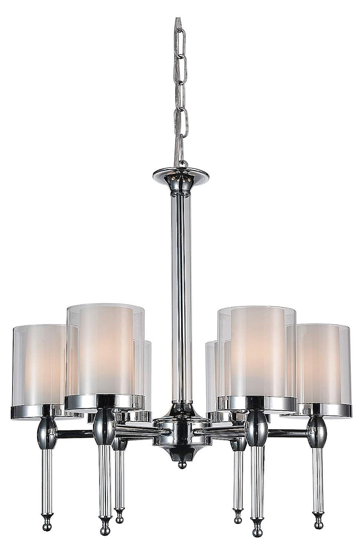Amazon.com: Lámpara de araña con 6 velas con acabado cromado ...