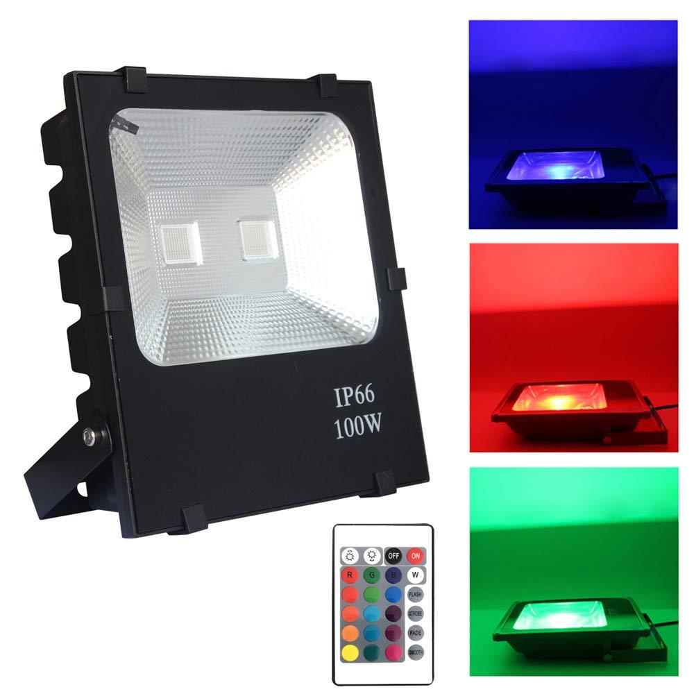 Froadp 100W LED Foco para Exteriores Alto Brillo Proyector 4 modos ...