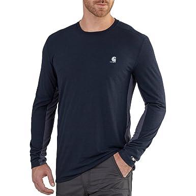 3da3b8a87680 Carhartt Men's 102264 Force Extremes&Trade; Long Sleeve T-Shirt - Medium  Regular - Navy