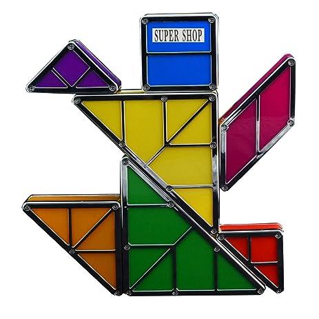 Amazon.com: Supershop Rechargeable Tangram Puzzle Light Magnetic ...