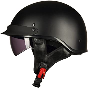 ILM Half Helmet Motorcycle Open Face Sun Visor - Best Half Faced Helmet