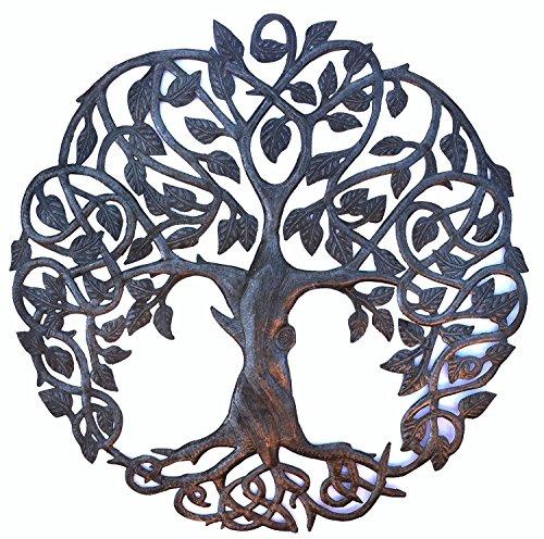 it's cactus - metal art haiti New Design Celtic Inspired Tree of Life, Metal Wall Art, Fair trade from Haiti, 23