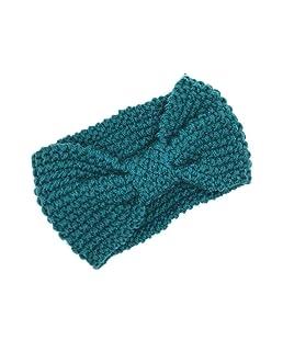 Sunlera Fille Accessoires Cheveux Mode Hiver Chaud Bowtie Femmes Crochet Tressé Bonnet Cap Bandeau Lady Band Cheveux