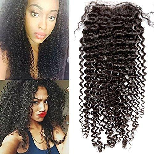 Human Hair Lace Top Closure Sunwell Brazilian Virgin Human Hair Closure Bleached Knots 3.5×4 Lace Closure with Baby Hair Natural Color