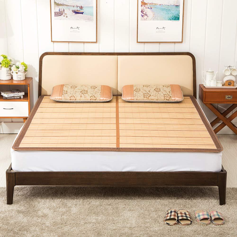折りたたみ 夏の睡眠マット, 両面 厚い 通気性 エアコン マット シングル ダブル ベッドパッド-a B07S197KTH