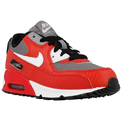 hot sale online d2723 8d589 Nike Kids Air Max 90 (PS) Running Shoe University Red   White-Metallic Cool  Grey-Black 12 M US Little Kid  Buy Online at Low Prices in India - Amazon.in