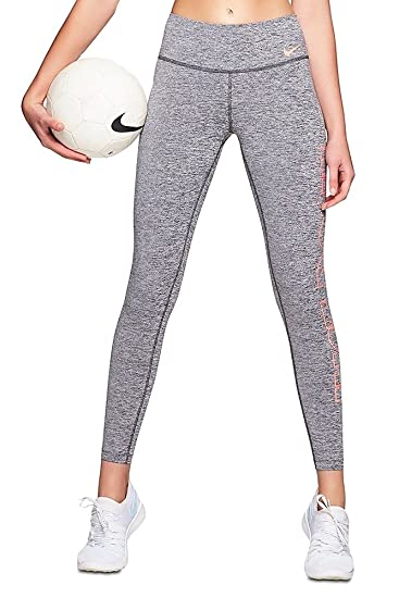 812177b3ea6b8b Nike Women's Power Tights Poly Just Do It at Amazon Women's Clothing store:
