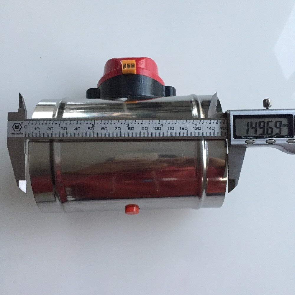 CHERIST 100mm//4 Stainless Steel Air Damper Valve Hvac Electric Air Duct Motorized Damper For Ventilation Pipe Valve 220V Air Valve