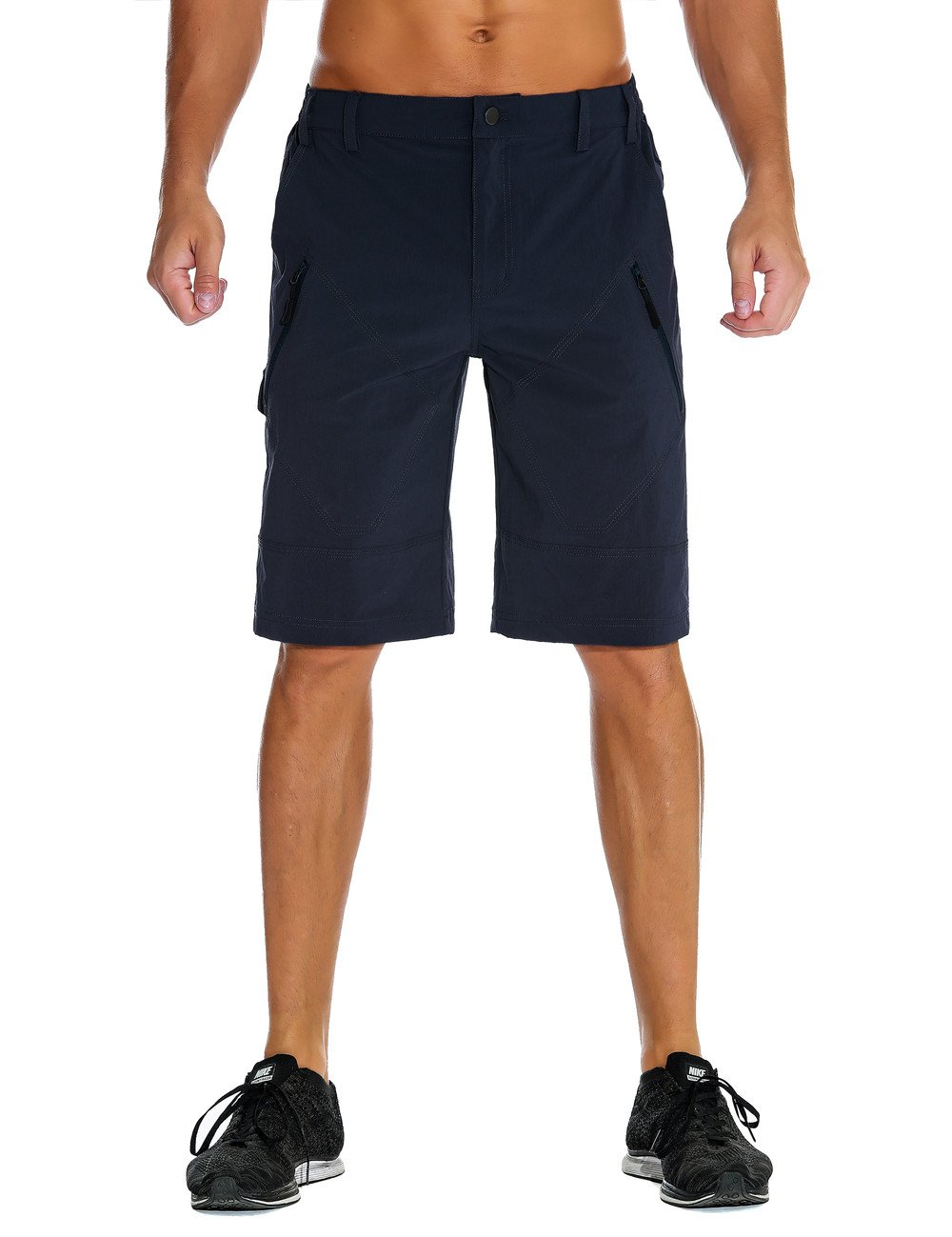 Nonwe Men's Quick Dry Outdoor Travel Cargo Shorts Blue 34