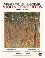 Great Twentieth-Century Violin Concertos in Full Score