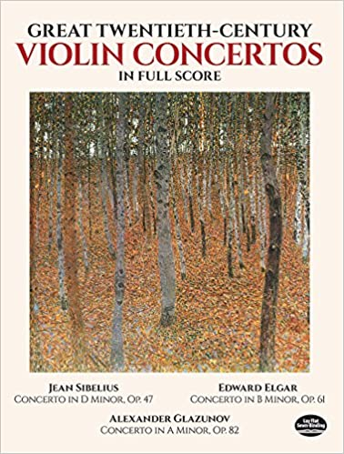 Amazon Great Twentieth Century Violin Concertos In Full Score