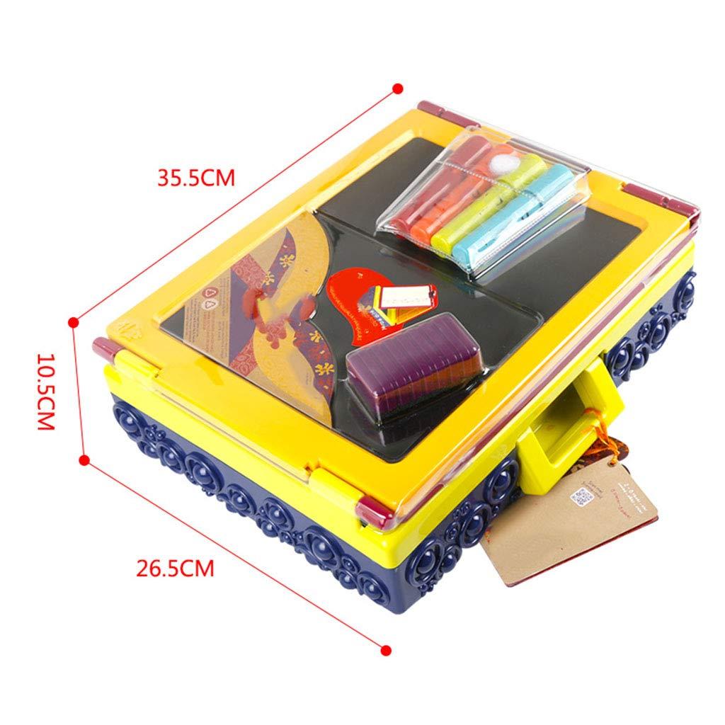 D_HOME Tablero de Dibujo portaacute;til para nintilde;os pequentilde;o pequentilde;o pequentilde;o Marco de Dibujo Tablero de Dibujo boceto Pizarra magneacute;tica (35.5  10.5  26.5cm) (Color 7c6e2f