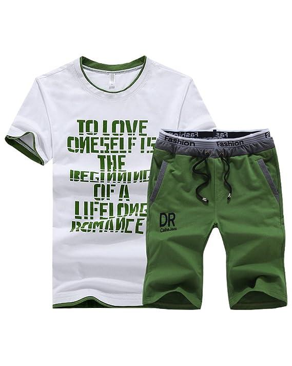 DianShao Hombre Chándal Camiseta Manga Corta Shorts Deportivos ...