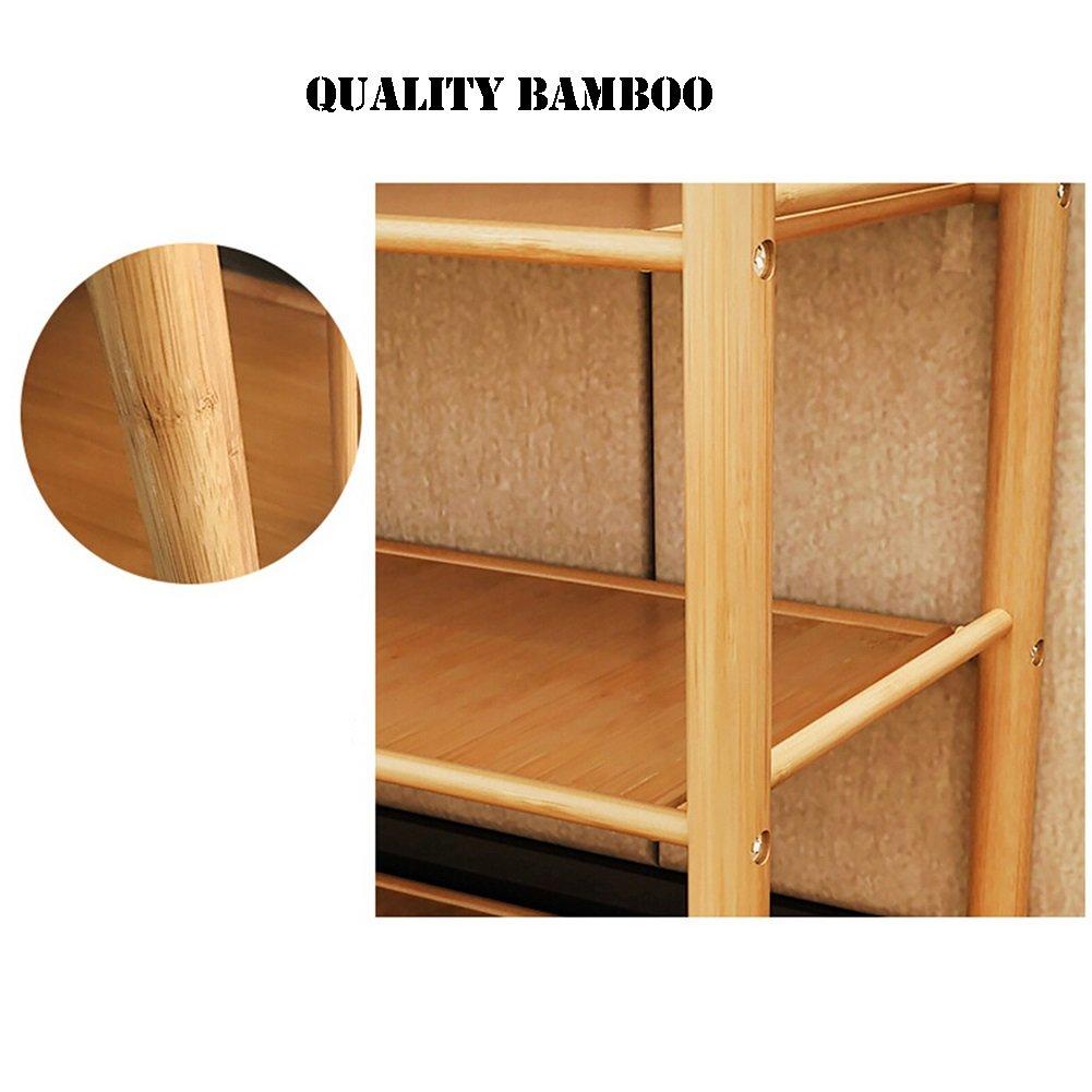 LZ-SNAIL small Shoe Rack Organizer Bamboo 3 Tier Lightweight Storage Shelf Holder Door Entrance Corner Entryway Shoe Organiser Shelf (Size : Length 80cm) by LZ-SNAIL (Image #5)