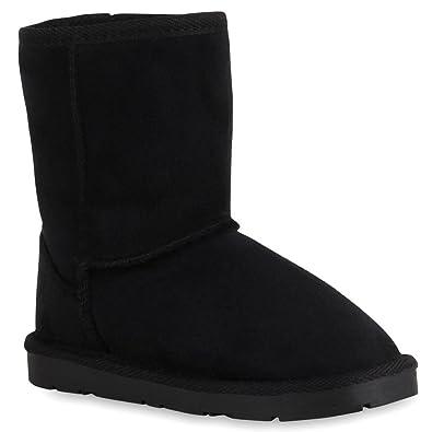 Warm Gefütterte Damen Stiefel Schlupfstiefel Leder-Optik 59306 Schwarz  Carlton 28 Flandell