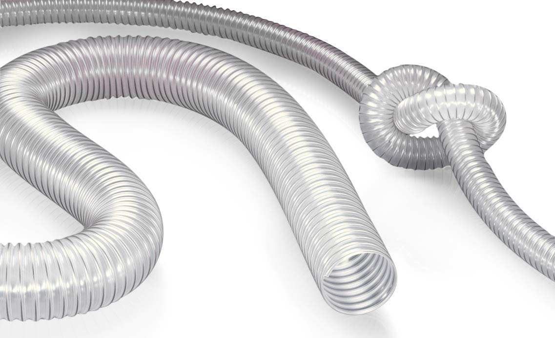 NORRES Woodstock Dust Antistatic Collection PU Hose Super-Light Duty 3 ID 50 ft